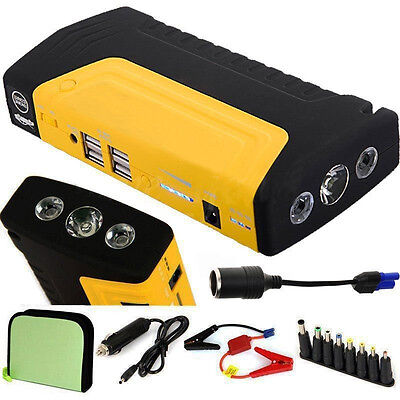 12V Portable 68800mAh Vehicle Car Jump Starter Battery Power Bank Charger 4USB