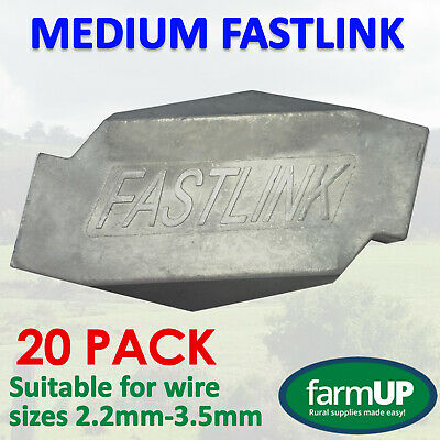 20x FASTLINK MEDIUM - Fence Wire Joiner Repair - Works with gripple® tensioning