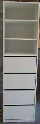 Wardrobe Built in Cabinet Storage Organiser Insert 4DR & Shelves 180cm ASSEMBLED