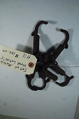 1920's Hood Latch's Matching Sets of Four antique vintage street hot rat rod H11