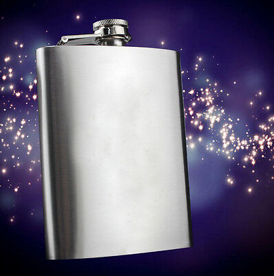 6 oz Liquor Stainless Steel Pocket Hip Flask Screw Cap Convenient High Quality