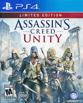 Assassin's Creed Unity (Limited Edition) PS4 Game Brand New Sealed