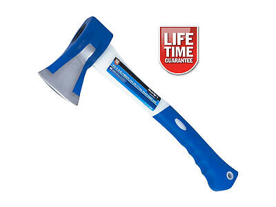1Kg Anti Jam Head Hand Axe Fibreglass Shaft Rubber Grip *lifetime Warranty*