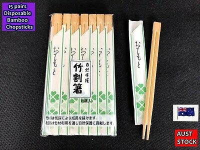 New Disposable Bamboo Chopsticks 15 pairs - Individually packed (A107)