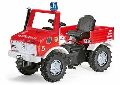 New Ride-on Rolly Toys Pedal Unimog Fire Engine Truck / Handbrake + Gears Age 3+