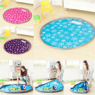 Portable Kids Toy Organizer Storage Bag Play Mat Picnic Mat For Rug Box L 80cm