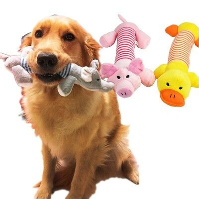 Dog Toys Pet Puppy Chew Squeaker Squeaky Plush Sound Duck Pig & Elephant Toy