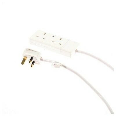 SMJ F2w10p Power Extension 2 Way 13 AMP Trailing Socket 10 Mtr Neon (polybag)