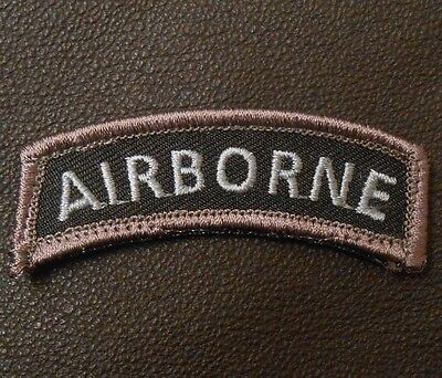 Airborne Tab Tactical Usa Army Morale Rocker Military Badge Swat Op Hook Patch