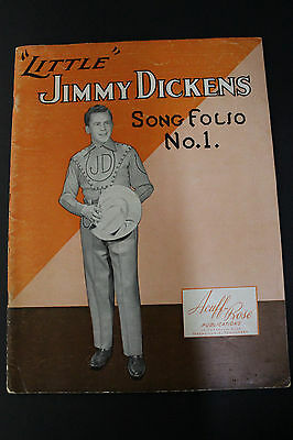 SHEET MUSIC BOOK: Little Jimmy Dickens Song Folio #1 Acuff-Rose