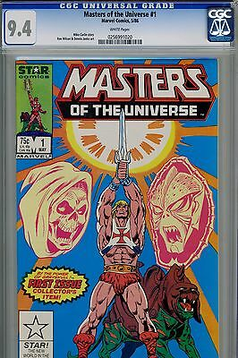 Master Of The Universe 1 (Marvel Star Comics)  CGC 9.4 Near Mint
