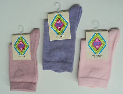Girls socks by MP - Solid Colors Mauve, Lavender, Light Pink - set of 3 pairs