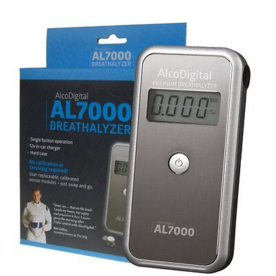 AlcoDigital AL7000 Replaceable Sensor Breathalyzer, as recommended by Ben Collin