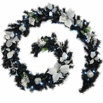 WeRChristmas 9 ft Decorated Pre-Lit Garland Christmas Decoration Illuminated wit