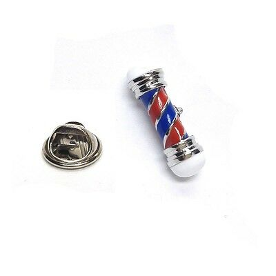 Red & Blue Barbers Pole Lapel Pin Badge X2AJTP498
