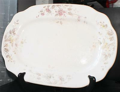 "Antique 1891 WOOD & SON Ironstone MAYFLOWER Pattern #143322 11 1/4"" Oval Plate"