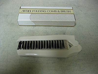 Collectible Avon White Folding Comb & Brush  Boxed Unused