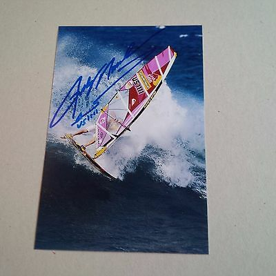 ROBBY NAISH windsurfing IN-PERSON signed photo 4 x 6 autograph