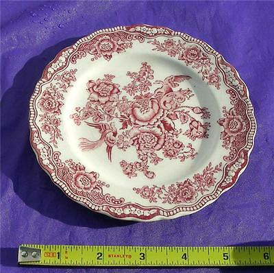 "Vintage CROWN DUCAL Pink BRISTOL Pattern #762055 5 7/8"" Bread & Butter Plate"