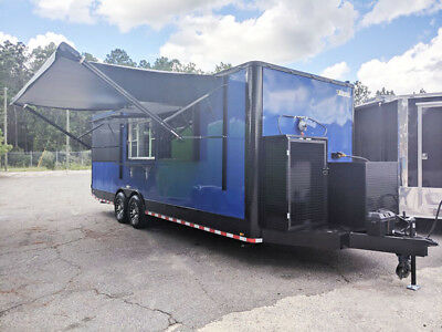 8.5X24 plus 8' Porch with smoker and Equipment Included - Electric Awning