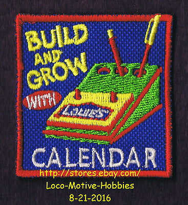 LMH PATCH Badge CALENDAR Date Book Pencil Holder Build Grow LOWES Kids Clinic