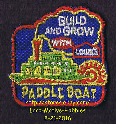 LMH PATCH Badge  PADDLE BOAT Paddleboat Steam  Build Grow LOWES Project Series