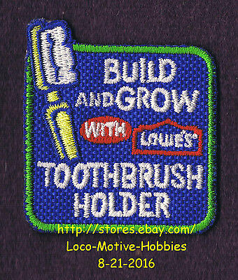 LMH PATCH Badge  TOOTHBRUSH HOLDER Tooth Brush  Build Grow LOWES Kids Clinic