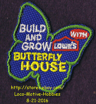 LMH PATCH Badge  BUTTERFLY HOUSE Holder Moth Cage Build Grow LOWES Kids Clinic