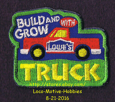 LMH PATCH Badge  PICKUP TRUCK Hauler Build Grow LOWES Kids Clinic Workshop