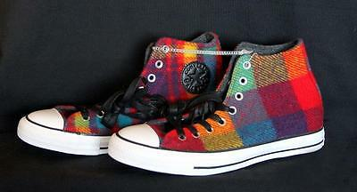 Converse WOOLRICH Wool Bright Colored Plaid Lined Hightop Shoes Unisex DISC NEW