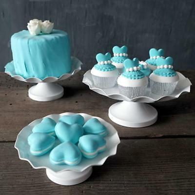 Vintage Cakes Cupcake Wavy Edge Stand Wedding Party Sweets Display Decor White