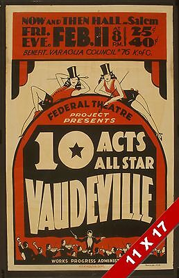 Vintage Vaudeville Acts Show Theater Poster Retro Federal Wpa Art Print