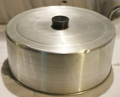 Vintage 1950s Aluminum Metal Cake Lid Cover