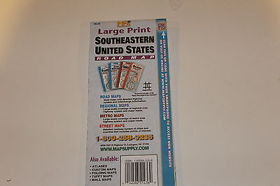 SOUTHEASTERN UNITED STATES (large print road map) - $6.95 | PicClick