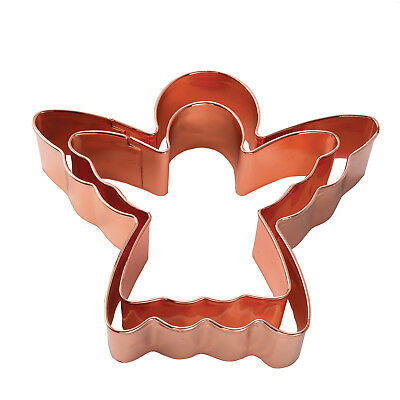 Set of 2 Copper Angel Cookie Cutter - Christmas Biscuit Pastry Cutter