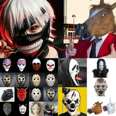 Halloween Cosplay Horse Head Mask Party Costume Adult Masquerade Mask