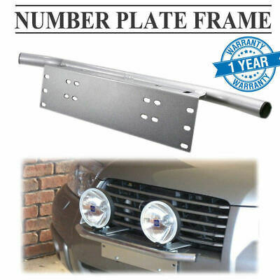 Number Plate Bullbar Frame For Driving Light Bar Mount Bracket Silver Car Truck