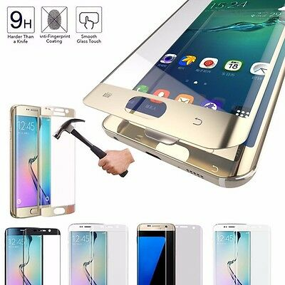 Protective Tempered Glass Screen For Samsung S6/7 Edge Anti Scratch Full Cover
