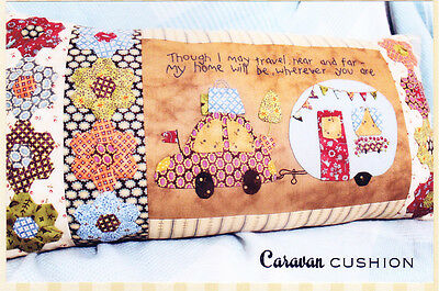 PATTERN - Caravan Cushion - cute pieced & applique PATTERN - The Birdhouse