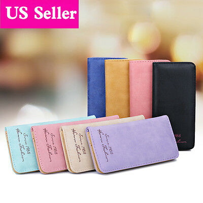 Fashion Women Lady Leather Clutch Wallet Long Card Holder Case Purse Handbag US