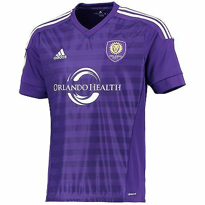 adidas Mens Gents Football Soccer Orlando City SC Home Shirt Jersey 2015-16