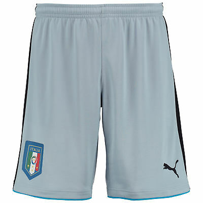 Puma Mens Gents Football Soccer Italy Home Goalkeeper Shorts Bottoms 2016 - Blue
