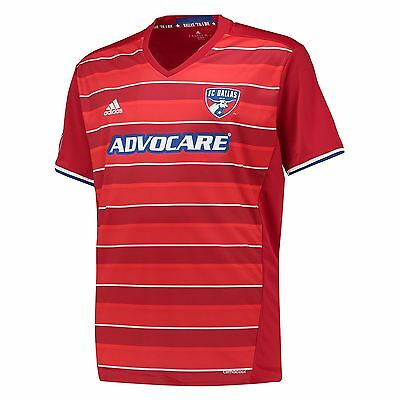adidas Mens Gents Football Soccer FC Dallas Home Shirt Jersey Top 2016