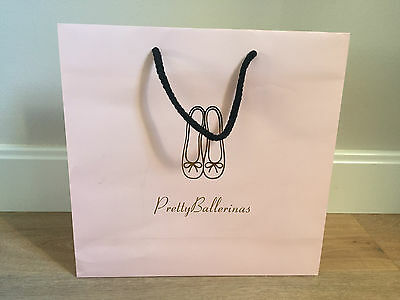 Used - PRETTY BALLERINES - bolsa de papel Rosa - Pink Paper bag -