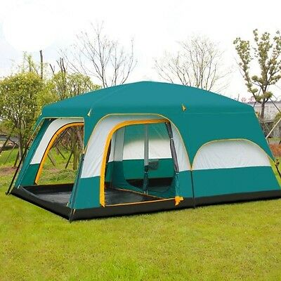 12 Man Waterproof Family Camping Large Group Beach Tent Sun Protection Shelter