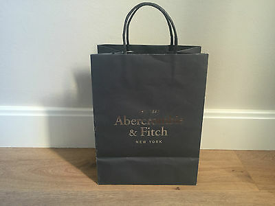 Used - ABERCROMBIE & FITCH - bolsa de papel gris - Grey Paper bag -
