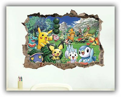 Pikachu Pokemon Wall Stickers Wall Decals Poster Room Decoration vinilo