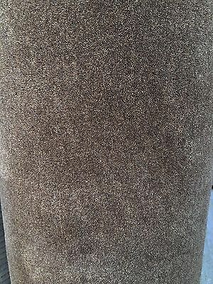 Handmade Carpet Remnant Roll End, Wool Velvet Taupe / Beige 5x3.20m RRP£1344