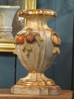 Decorative Italian pedestal carved wood adorned with fruit - 1950's