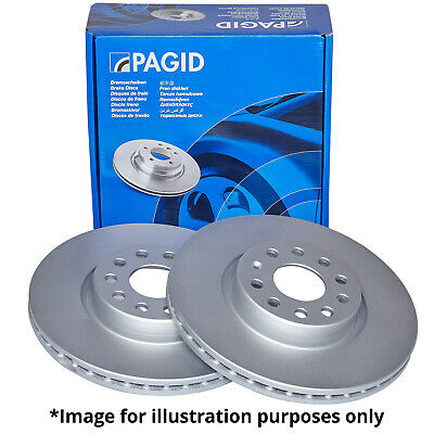 PAGID FRONT AXLE EXTERNALLY VENTED BRAKE DISCS 50358 Ø 308 mm BRAKE KIT BRAKES